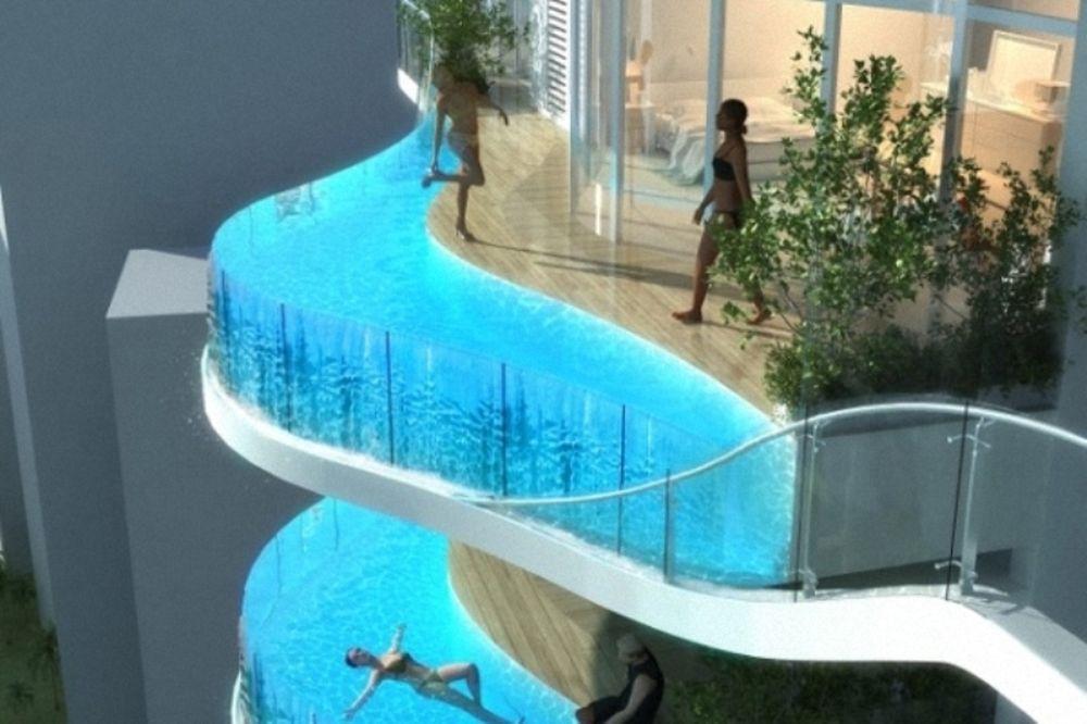 Σπίτι με πισίνα στο μπαλκόνι και πάρκο στη βεράντα! (photos)