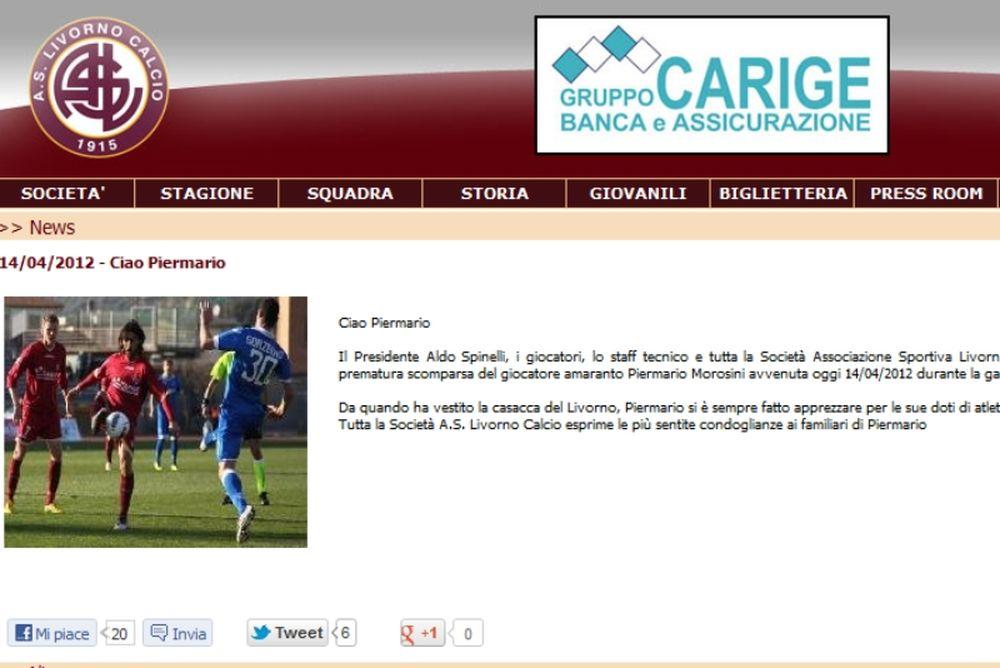 «Ciao Piermario»