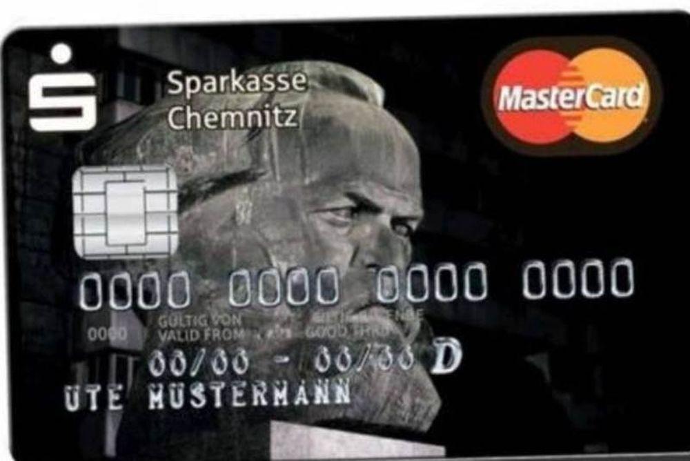 Τρέλα για τις πιστωτικές κάρτες με το πρόσωπο του Μαρξ!