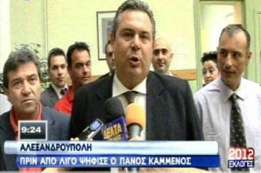 Βουλευτικές εκλογές 2012: Ψήφισε ο Πάνος Καμμένος (vid)