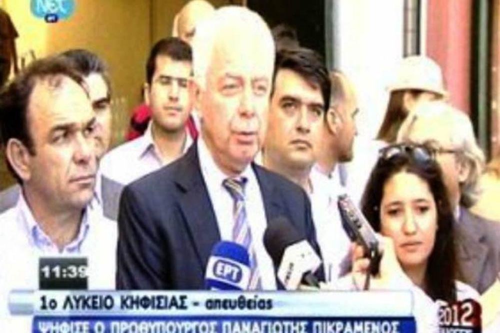 Βουλευτικές εκλογές 2012: Ψήφισε ο πρωθυπουργός Παναγιώτης Πικραμένος
