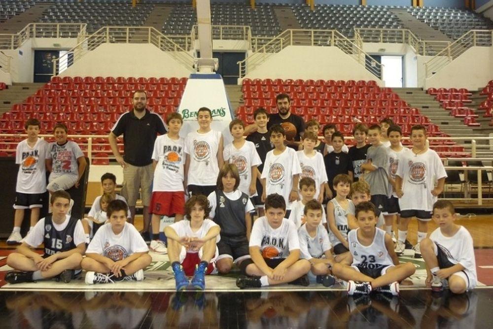 Στο PAOK Summer Basketball Camp Γιώργος και Στέφανος Δέδας
