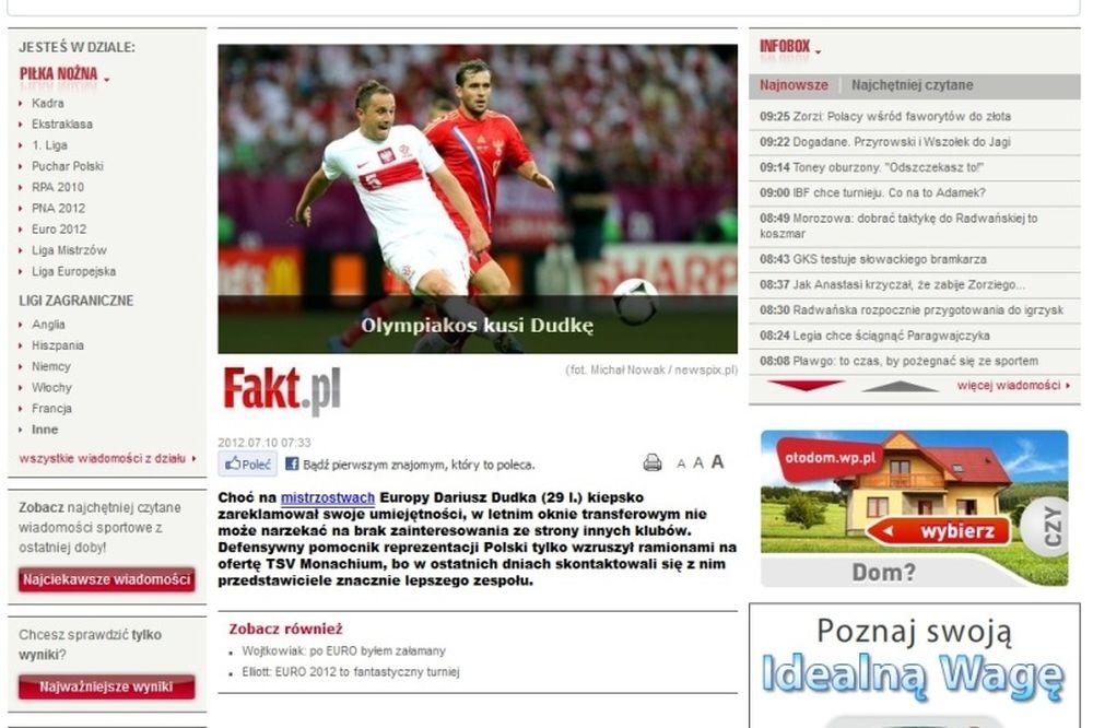 «Ο Ολυμπιακός ενδιαφέρεται για Ντούντκα»