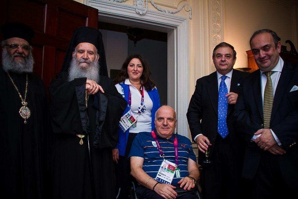 Λονδίνο 2012: Δεξίωση του Έλληνα πρέσβη στην Παραολυμπιακή μας ομάδα