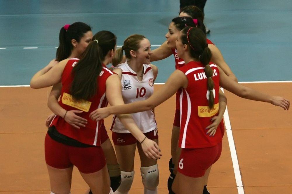 Ολυμπιακός: Άσος... στο σέρβις, 3-0 τους Μακεδόνες