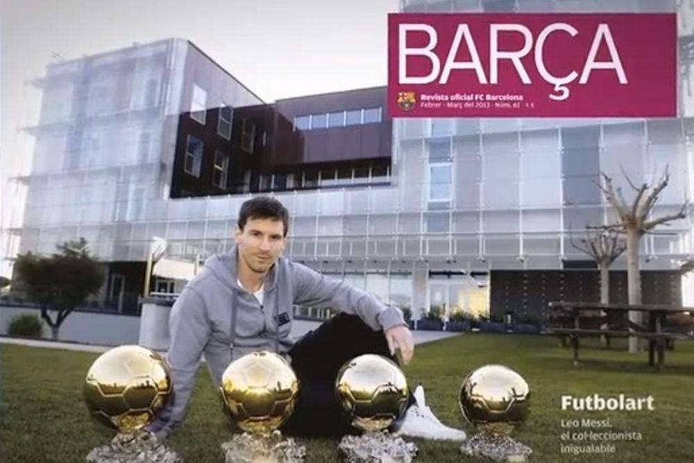 Μπαρτσελόνα: «Θαμπώνουν» οι Χρυσές Μπάλες του Μέσι (video)