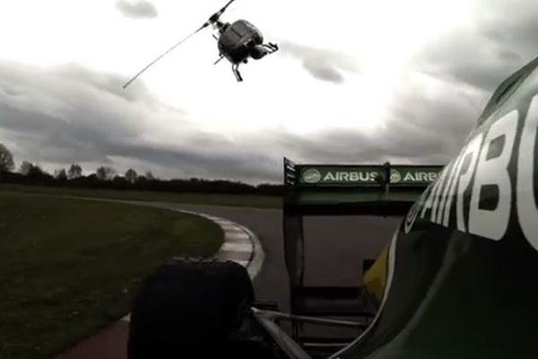 Ελικόπτερο κυνηγά μονοθέσιο της Φόρμουλα 1! (video)