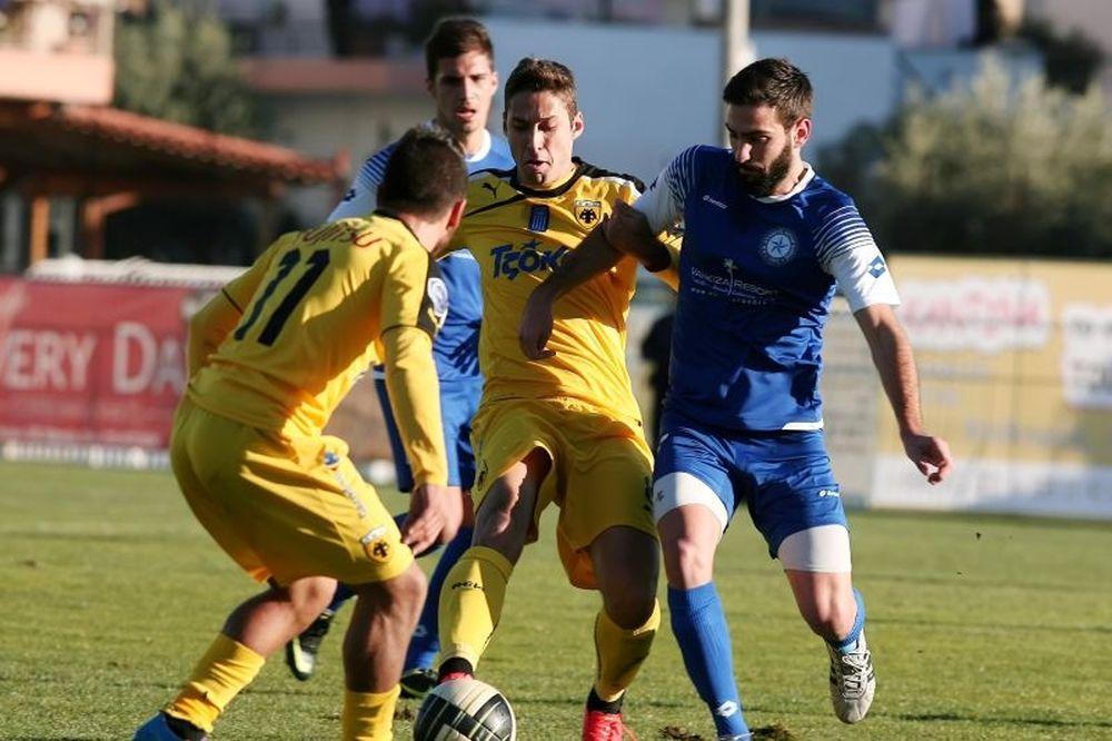 Γκέλαρε στο Μενίδι η ΑΕΚ, 1-1 με Αστέρα Βάρης