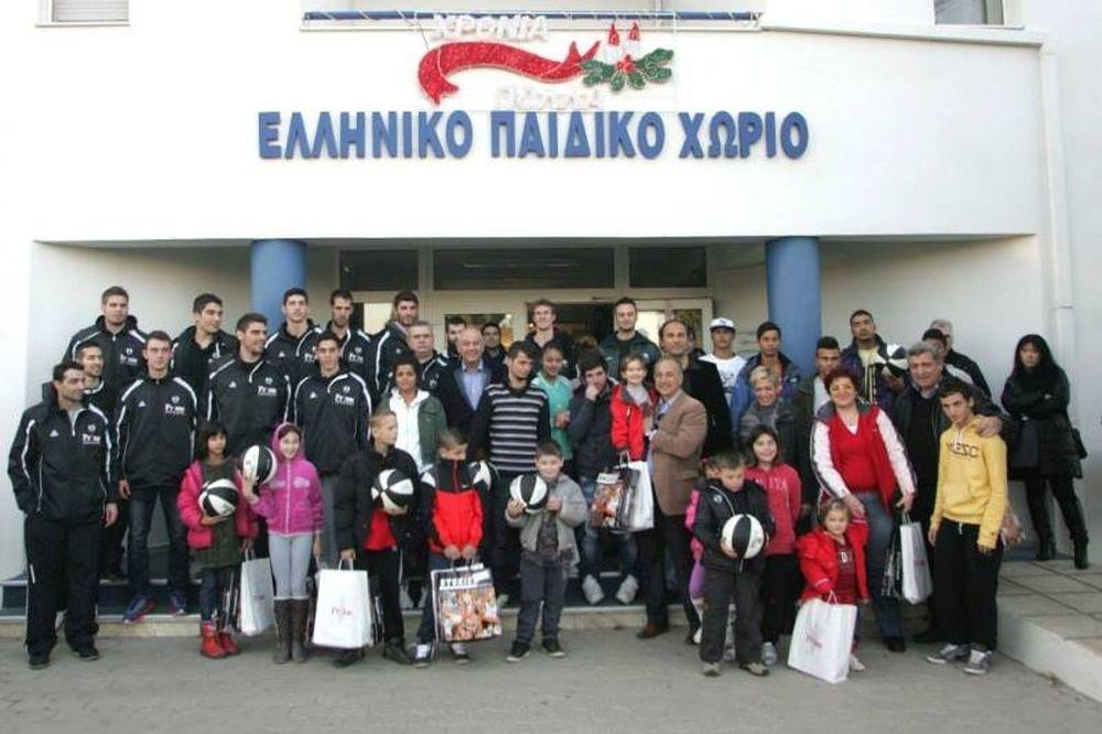 ΠΑΟΚ: Στο Ελληνικό Παιδικό Χωριό Φιλύρου (photos)