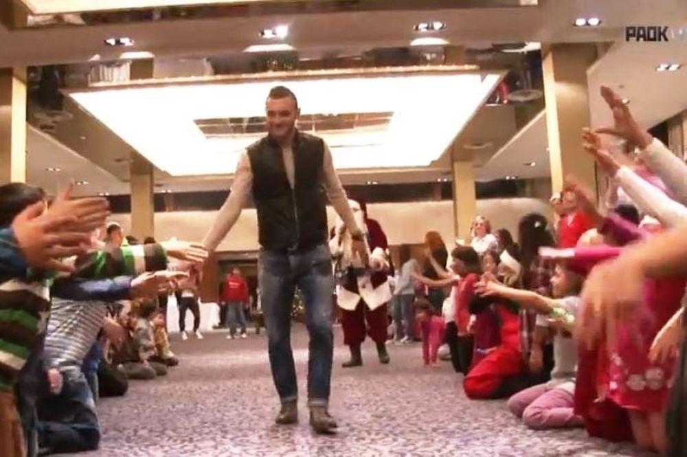 ΠΑΟΚ: Το χριστουγεννιάτικο πάρτι για τα χωριά SOS (video)