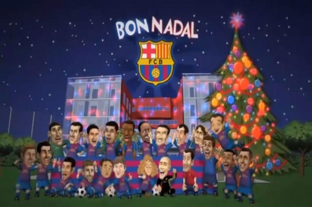 Καλά Χριστούγεννα από τα… Barca Toons! (video)