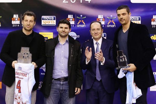 All Star Game: Βραβεύθηκαν Παπαλουκάς, Τσαρτσαρής (photos)