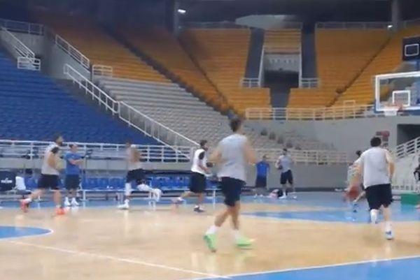 Εθνική Μπάσκετ Ανδρών: Η προθέρμανση στο ΟΑΚΑ (video)