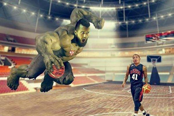 Μουντομπάσκετ 2014: Ο Ραντούλιτσα ως... Χουλκ! (photo)