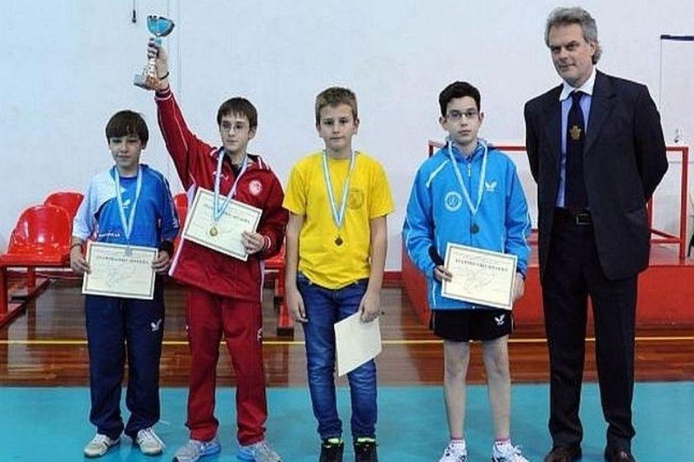 Ολυμπιακός: Μετάλλια για τους μικρούς στο Πινγκ Πονγκ
