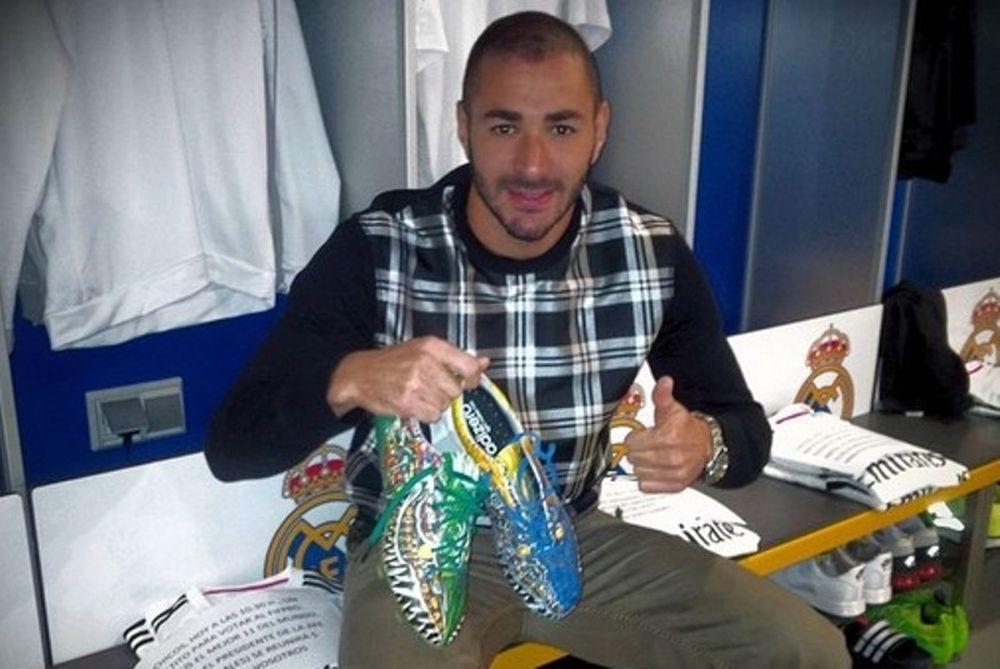 Ρεάλ Μαδρίτης: Τα παπούτσια... δράκου του Μπενζεμά (photos)