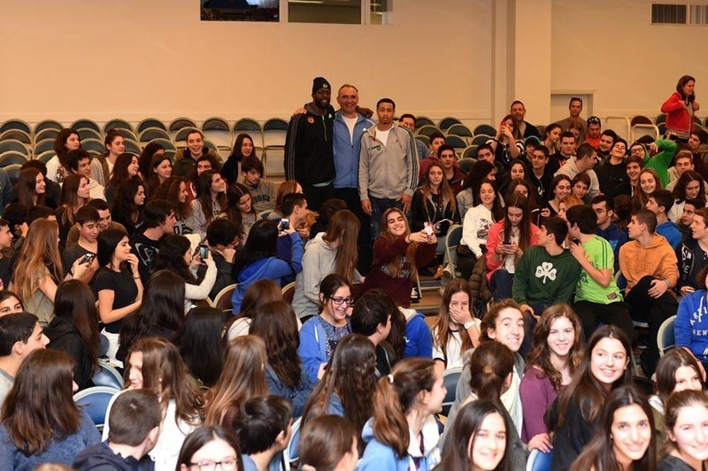 Παναθηναϊκός: Γκιστ και Σλότερ στις Σχολές Μωραΐτη (photos)