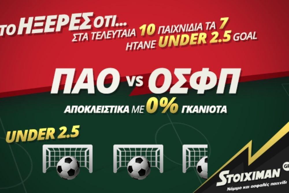 «Αιώνιο» ντέρμπι στον Stoiximan.gr με 0% Γκανιότα & 140+ ειδικά στοιχήματα!