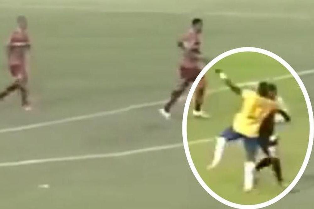 Βραζιλία: Παίκτης  έβγαλε νοκ - άουτ διαιτητή  με κίνηση ... κατς (video)