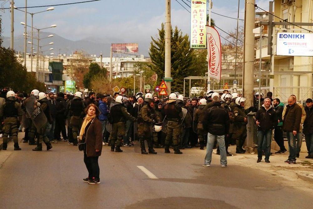 Ατρόμητος - Παναθηναϊκός: Πορεία των «πράσινων» οπαδών στο Περιστέρι (photos)
