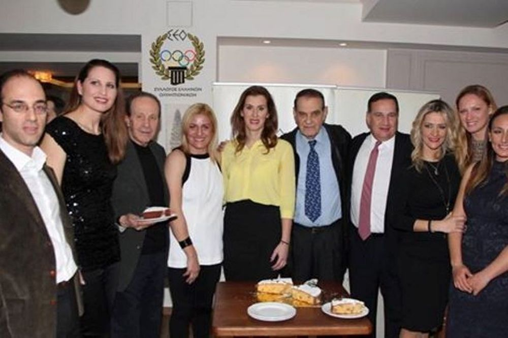 Έκοψαν την πίτα τους οι Έλληνες Ολυμπιονίκες