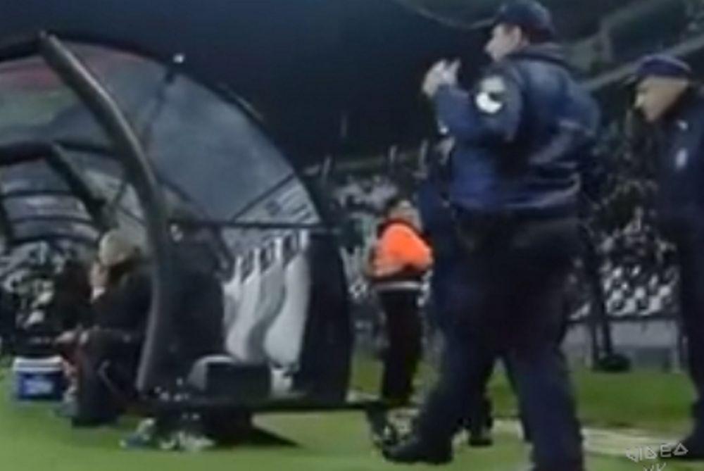 Ο επικός αστυνομικός στον πάγκο του ΠΑΟΚ! (video)
