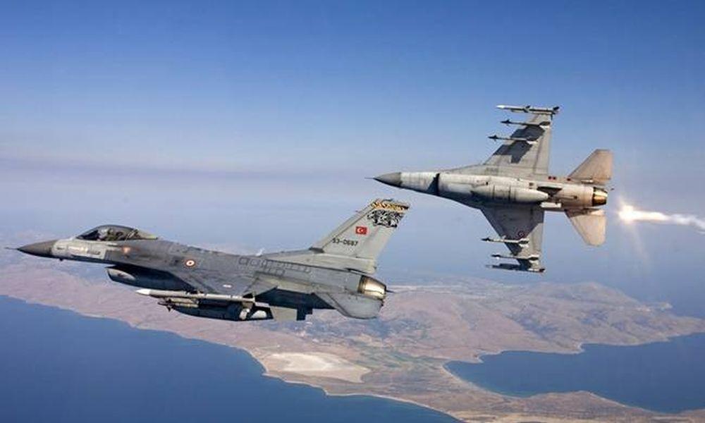 «Ξεσαλώνουν» οι Τούρκοι στο Αιγαίο: Νέα... επίσκεψη 14 πολεμικών αεροσκαφών