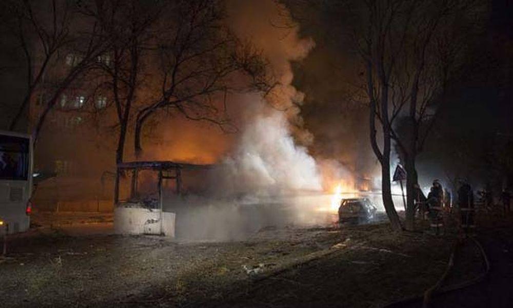 Η στιγμή της φονικής έκρηξης στην Άγκυρα (pics+vid)