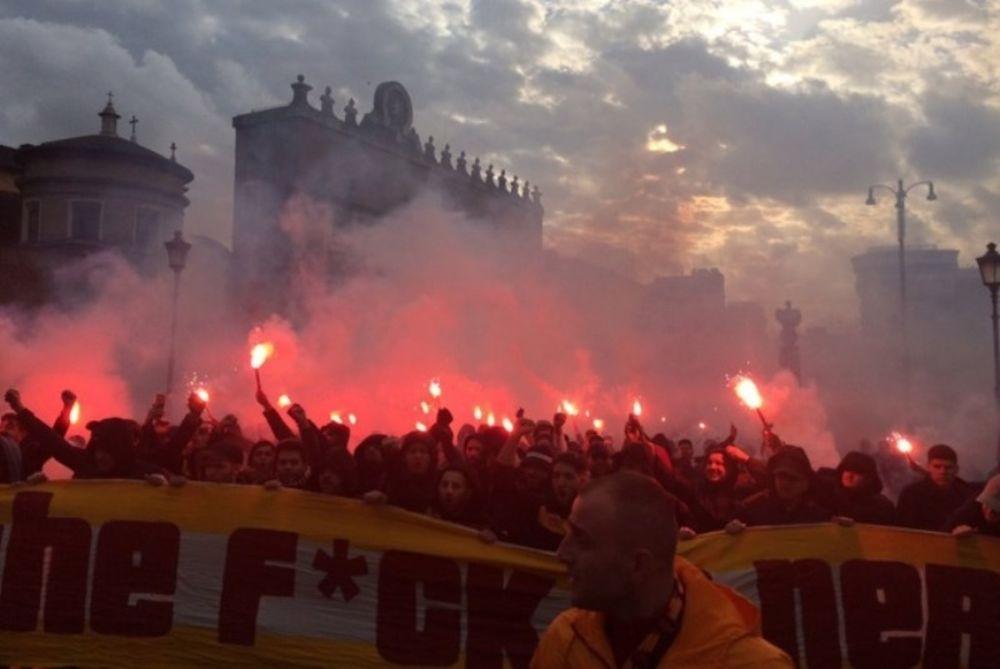 «Έκαψαν» τη Ρώμη οι φίλαθλοι της Γαλατά! (photos)