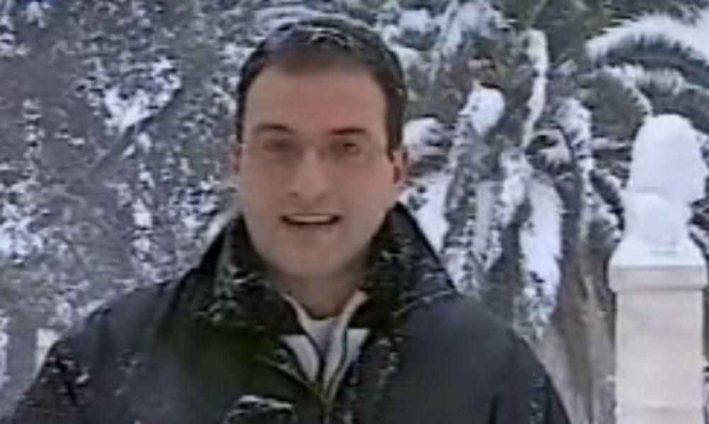 Θα πάθετε σοκ: Πώς ήταν ο Σάκης Αρναούτογλου το 2001 στο πρώτο του χιονορεπορτάζ (video)