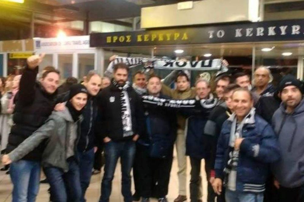 Θερμή υποδοχή από τους οπαδούς του ΠΑΟΚ στην Κέρκυρα