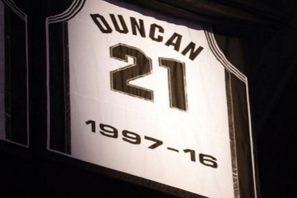 Οι Spurs τίμησαν τον Ντάνκαν (video)
