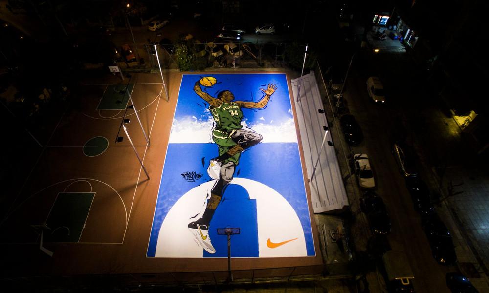Το εμβληματικό graffiti για τον Γιάννη Αντετοκούνμπο στα Σεπόλια