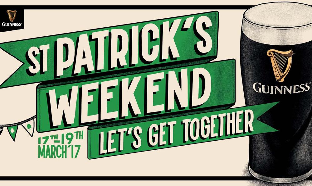 Η Guinness μας καλεί να γιορτάσουμε μαζί την ημέρα του Αγίου Πατρικίου στις 17 Μαρτίου!
