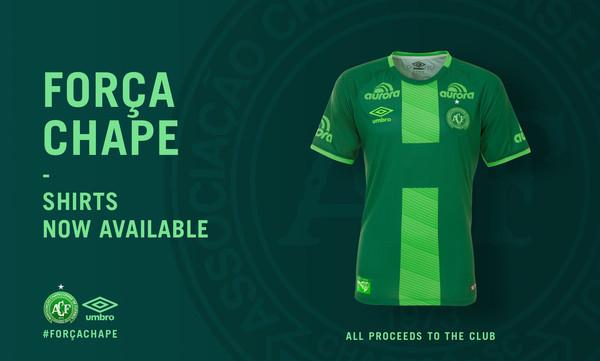 Força Chape: Η επίσημη UMBRO φανέλα της Chapecoense τώρα διαθέσιμη για την ενίσχυση του συλλόγου