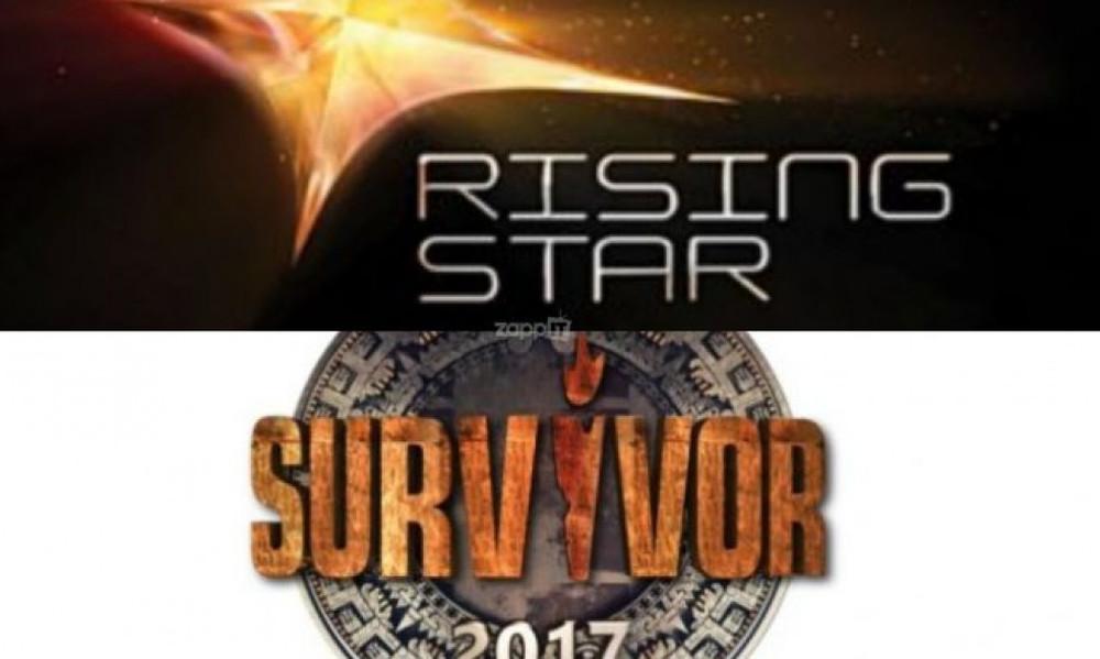 Survivor-τηλεθέαση: Το... χαλαρό επεισόδιο ξεπέρασε το λαμπερό Rising Star
