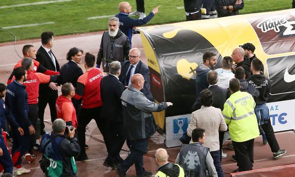 Ολυμπιακός: Η φωτογραφία από τα αποδυτήρια του ΟΑΚΑ με χούλιγκανς!