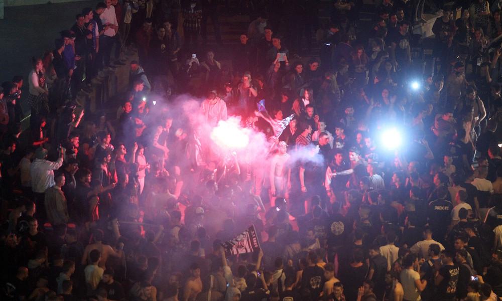 Τελικός Κυπέλλου 2017: Ξέφρενοι πανηγυρισμοί στον Λευκό Πύργο