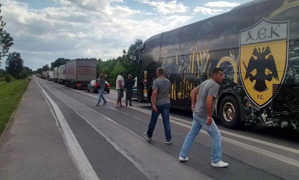 ΑΕΚ: Ταλαιπωρία λόγω τροχαίου στο Κιέλτσε