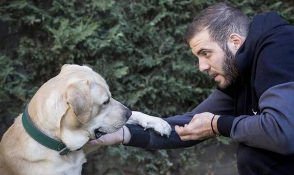 ΚΛΑΜΑ: Ο Παππάς… χαζεύει τον σκύλο του με μπάλα του Παναθηναϊκού