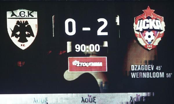 ΑΕΚ - ΤΣΣΚΑ Μόσχας 0-2: Τα highlights του αγώνα
