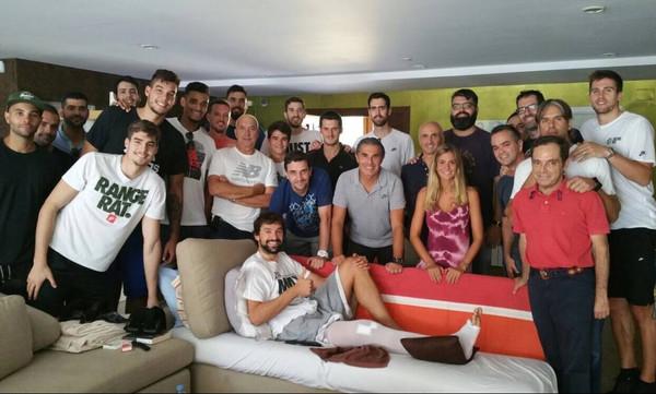 Επίσκεψη της Εθνικής Ισπανίας στον Σέρχιο Γιουλ