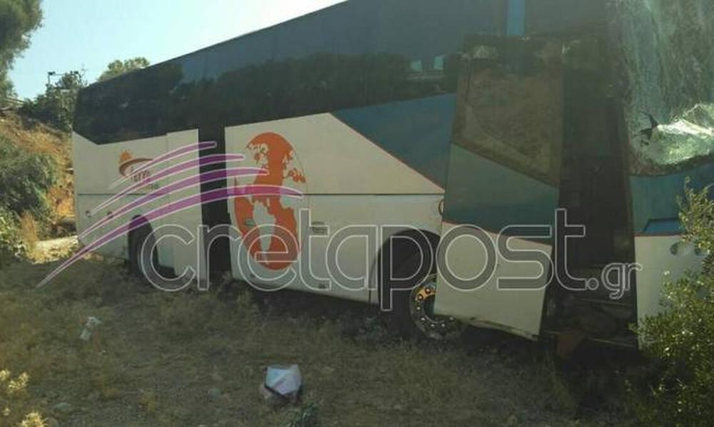 Κρήτη: Οι πρώτες σκληρές εικόνες από το τροχαίο με το λεωφορείο – Ένας νεκρός - 3 τραυματίες