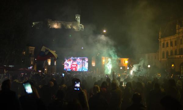 Ευρωμπάσκετ 2017: Τρελοί πανηγυρισμοί στην Σλοβενία για τον τίτλο (photos+videos)