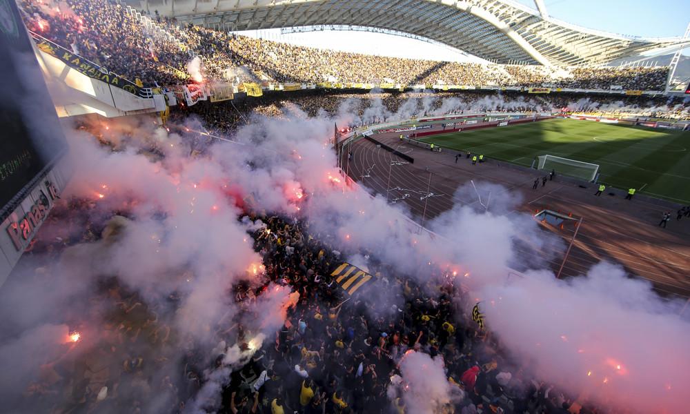 ΑΕΚ - Ολυμπιακός: Το «κιτρινόμαυρο» μήνυμα στον κόσμο (photo)
