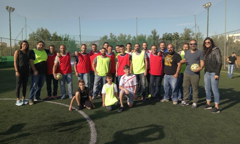 Ρεπόρτερ, αθλήτριες και VIP φίλοι ΑΕΚ και Ολυμπιακού έπαιξαν... ντέρμπι με την υπογραφή της Nova