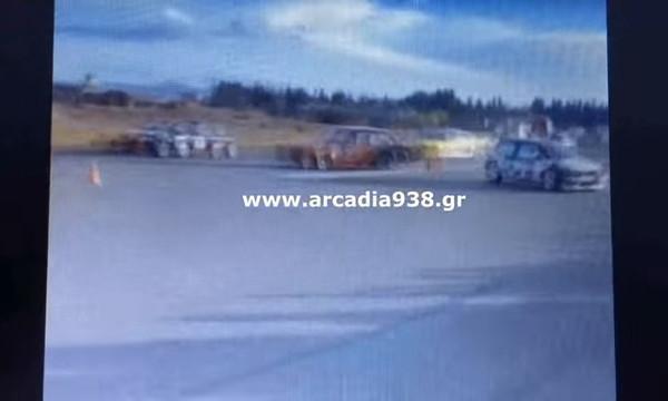 Τρομερό ατύχημα στην Τρίπολη! Αυτοκίνητο σε αγώνα δρόμου έπεσε στο κοινό! 4 τραυματίες (video)