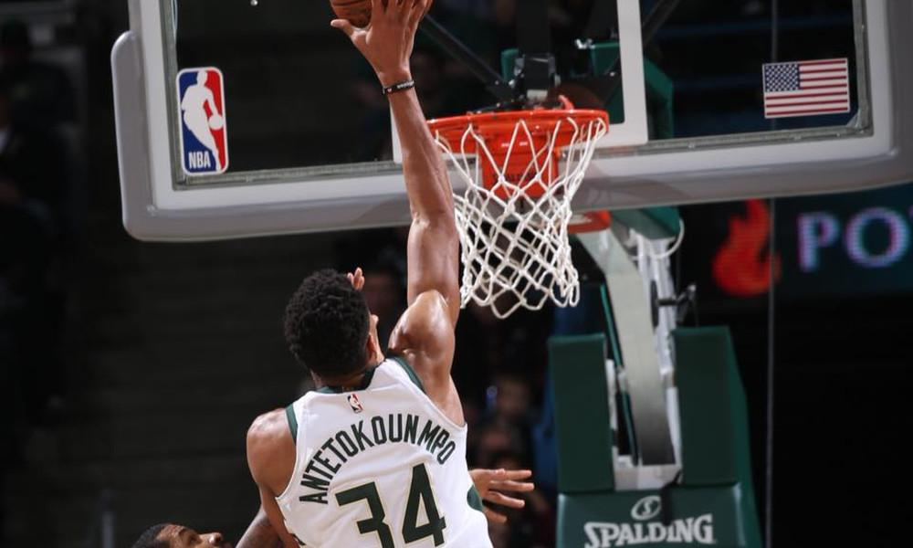 NBA: Ο Giannis δεν έβαλε… φρένο στις ήττες των Μπακς (video)