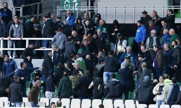 Παναθηναϊκός-Πανιώνιος 0-1: Ξύλο μεταξύ οπαδών στη Λεωφόρο (photos)