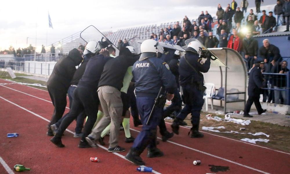 Χοντρό επεισόδιο και τραυματισμός οπαδού στο ΑΠΕ Λαγκαδάς-Ηρακλής (photos)